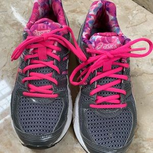 Asics T48AQ Duomax Gel Women's 6.5 Gray pink trim